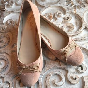 Anthropologie Seychelles pink suede flats size 10
